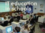 IT education In Schools